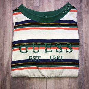 Guess Mens Dylans Stripped 1981 T-Shirt-Small